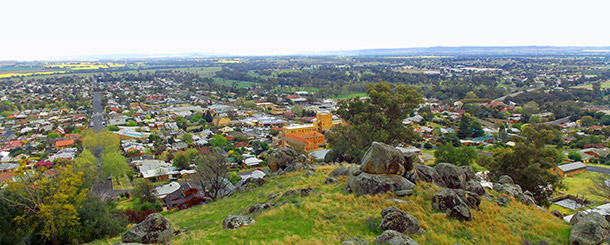 Bellevue Hill lookout have a superb view of Cowra